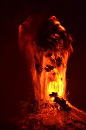 So sah die Eruption aus.