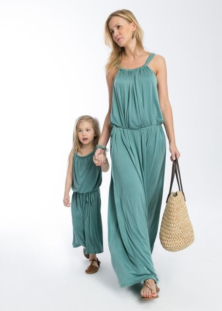 #dress in one of the official spring and summer colors 2016 - Limpet Shell! #sukienka #thesame #momanddoughter #mamaicórka #ubraniadlamamyicórki #pastele #limpetshell #pantone #wiosna #spring #lato #limpetshell #turkus #morski #summer #modnieiwygodnie