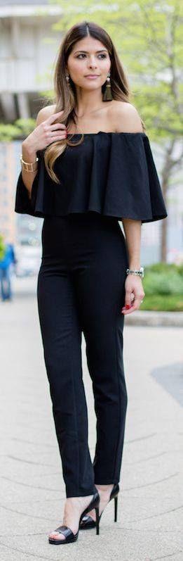 Ideas de looks con jumpsuits muy elegantes http://beautyandfashionideas.com/ideas-looks-jumpsuits-elegantes/ Fashion ideas with very stylish jumpsuits #Ideasdelooksconjumpsuitsmuyelegantes #Ideasdeoutfits #jumpsuits #Moda #Outfits #outfitsdemoda