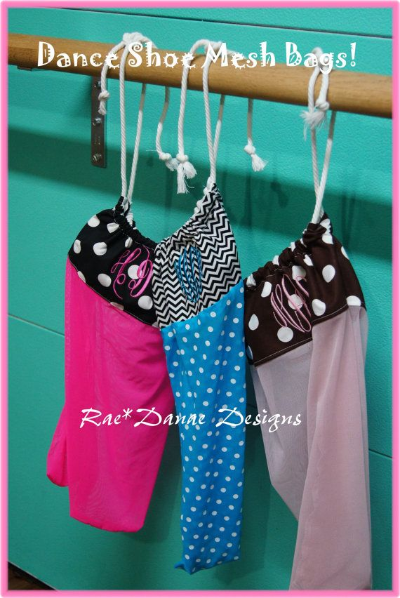 Set Of 4 Dance Shoe Mesh Bags You Choose By Raedanaedesigns 100 00 Pinterest Shoes Dancing And Pointe