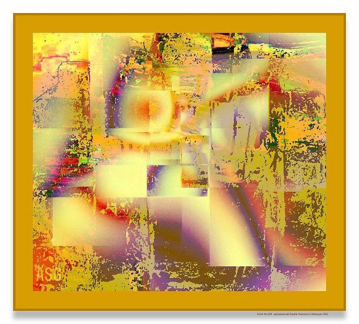 Work № 691 expressionist Sarkis Yerevanci - Изобразительное искусство - Масло…