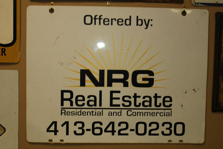 The oldest NRG sign. This sign dates back to 2006 AD and was used the company for only a few months.