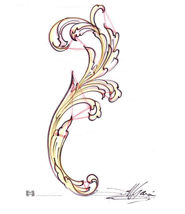 FiligreeTutorial: Jeff Gogué - http://tattooartistmagazineblog.com/2014/09/26/filigreetutorial-jeff-gogue/