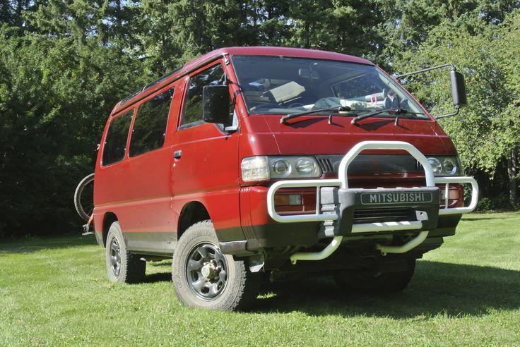 1992 red Mitsubishi Delica