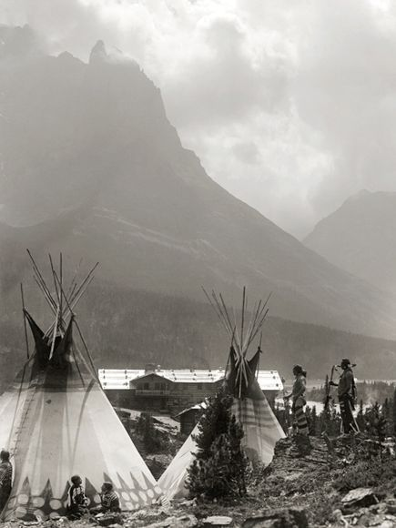 Glacier National Park, Montana, Indian Tee Pee's Late 1800s