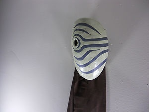 Madara Obito Tobi Cosplay mask, the one he wore when he fought the 4th hokage.  Available on eBay  $49.99