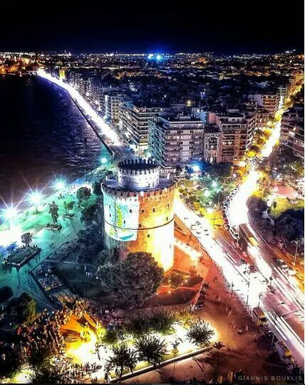 Thessaloniki by night, Greece