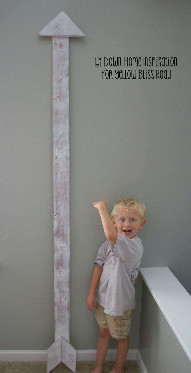 Build an Aged DIY Arrow Growth Chart