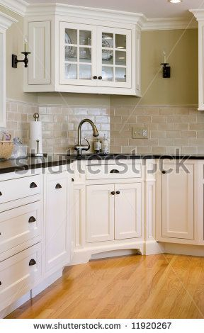 20 best kitchen corner sink images on pinterest kitchen white wednesday kitchen of the day white cabinets with black granite and wood flooring corner sink and cabinet workwithnaturefo