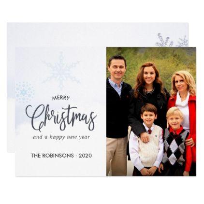 Merry Christmas and Happy New Year Greetings photo Card - christmas cards merry xmas diy cyo greetings