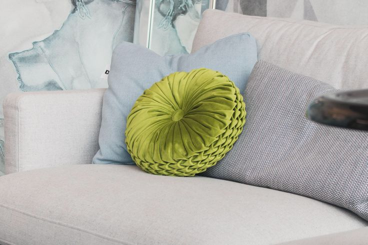 Green handmade round smocking embroidered decorative velvet cushion | Decorative pillow | 33x33cm | Velvet pillow | Round by Mellowfolds on Etsy https://www.etsy.com/listing/564269039/green-handmade-round-smocking