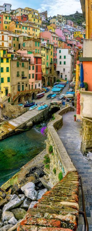 The Riomaggiore region in Italy.
