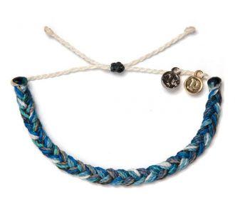 1% For The Planet Braided - Gri Mavi Beyaz Bileklik - #elyapimi her bileğe göre #ayarlanabilir #rengarenk örgü  #bileklik takı tasarımı, Pura Vida Bracelets, #alisveris www.bolindo.com