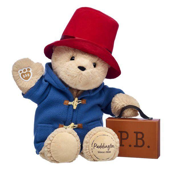 Build-A-Bear PADDINGTON Blue Jacket Red Hat Suitcase UK Exclusive 2019 edition