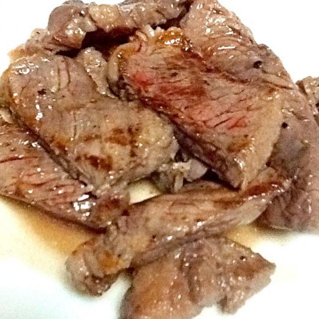 わさび醤油が美味い。 - 33件のもぐもぐ - オージービーフのステーキ by supatetsu