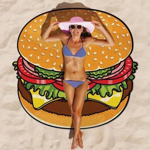Burger beach towel