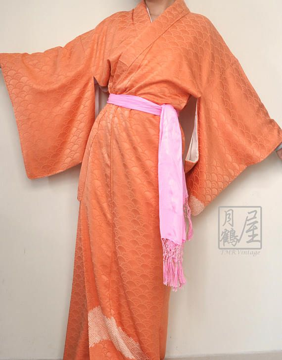 Japanese Long Kimono Robe/ Full Length Kimono/Vintage Komon https://www.etsy.com/listing/528567159/japanese-long-kimono-robe-full-length?ref=shop_home_active_35