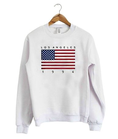 0b2c58ac2 Los Angeles 1994 USA Flag Sweatshirt in 2019 | Famous Sweatshirt ...