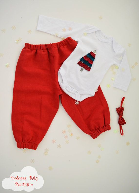 Baby Boy Red Pants Baby boy bodysuit Baby by DoloresBabyBoutique