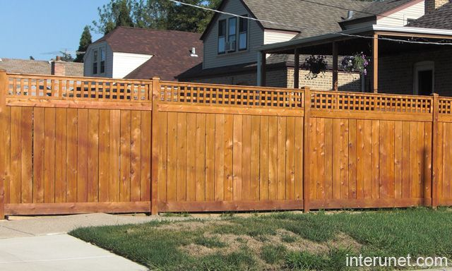 9 best front yard fences images on pinterest fence ideas for Wood privacy fence ideas