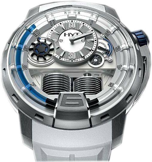 148-TT-11-BF-RW HYT H1 Iceberg - швейцарские мужские часы наручные, титановые, серые