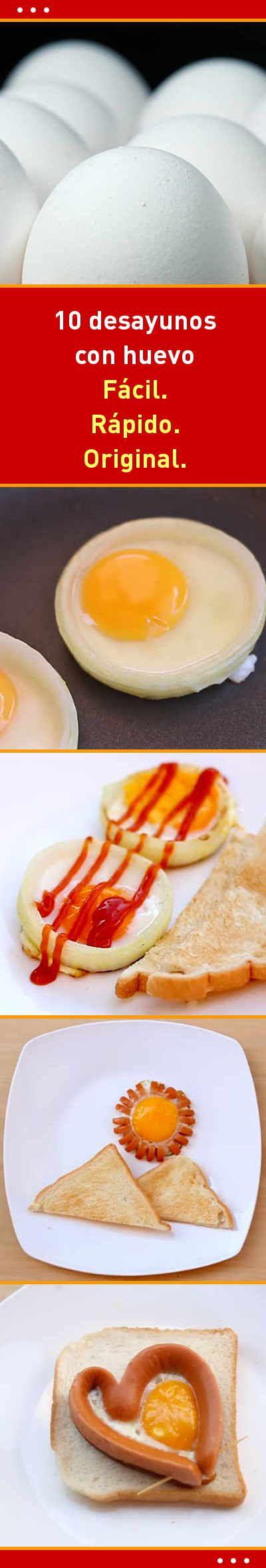 10 desayunos con huevo. Fácil. Rápido. Original.