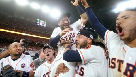The Astros have only reached one previous World Series - in 2005 when they were swept 4-0 by the Chicago White Sox  The  Houston Astros will face the Los Angeles Dodgers in the World Series  after they pipped the New York Yankees to the American League title with  a 4-0 success on Saturday.  The Astros had led the best-of-seven  AL Championship Series (ALCS) 2-0 but the Yankees won the next three  games in the Bronx to lead 3-2 before the series returned to Houston. Needing two home wins…