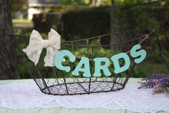 Rustic Wedding Card Basket Country Chic Decor Wooden by LoRustique, $34.50