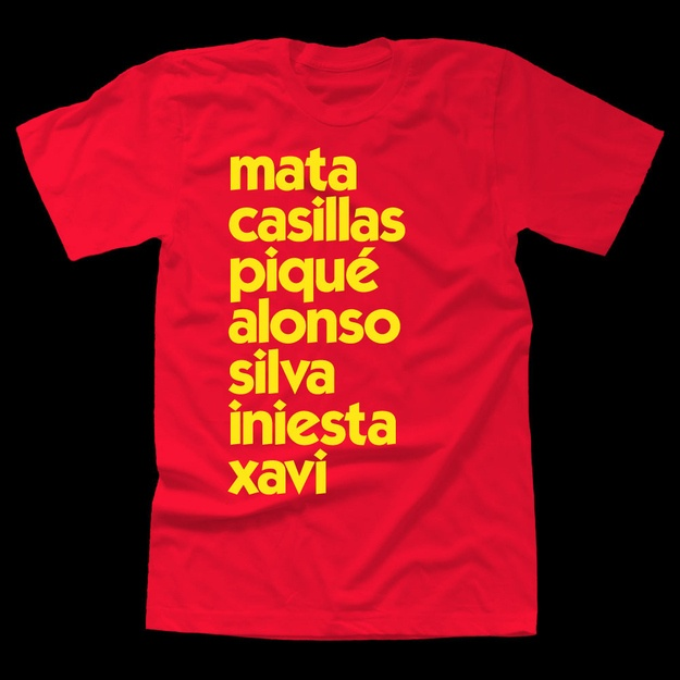 Minimalist Soccer T-Shirts Are The Coolest SoccerT-Shirts. Euro 2012 National Teams.
