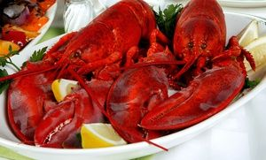 Groupon - Oysters or Lobster Feast for Two with Wine or Champagne at Psari (Up to 50% Off) in Astoria. Groupon deal price: $39