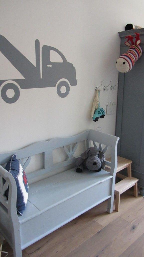 #Kinderkamer #jongen #muursticker #klepbank   Kidskamers