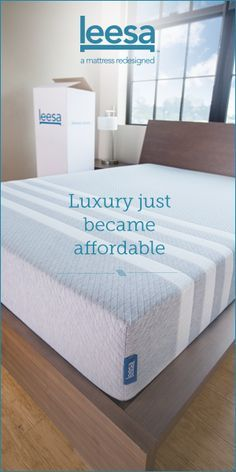 The luxury Leesa mattress: an amazingly comfortable and extremely affordable premium foam mattress that costs thousands less than what'd you buy in a mattress showroom. The 100% American-made Leesa ships (for free) compressed in a box to your doorstep, and comes with a 100-night risk-free sleep trial. Leesa also donates one mattress to a homeless shelter for every ten they sell.