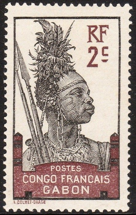 Currently at the Catawiki auctions: Gabon 1910/1932 - Collection incl. postage due stamps