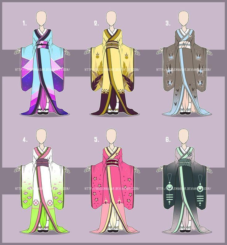 Character Design Kimono : Best kimono fashion images on pinterest anime outfits
