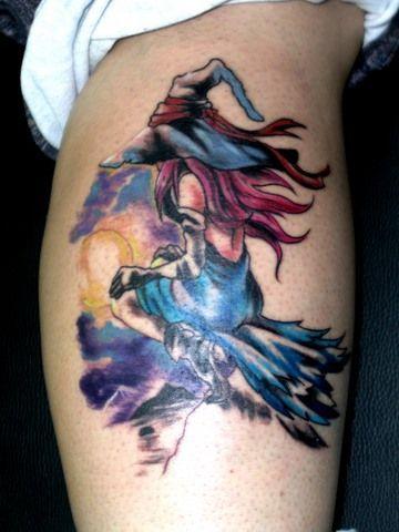 Tatuajes de Brujas y brujitas para chicas