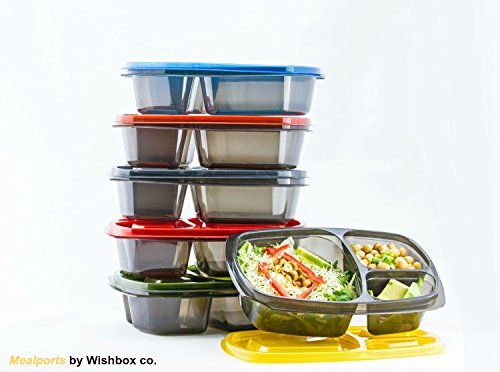 Bento box / Lunch box -Pack of 6 leakproof, 3 compartment... https://www.amazon.com/dp/B01M04J8X6/ref=cm_sw_r_pi_dp_x_HATzybQN4HW1F