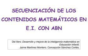 ALGORITMOS ABN. Por unas matemáticas sencillas, naturales y divertidas.: Esquema de secuencias de la enseñanza matemática en Educación Infantil