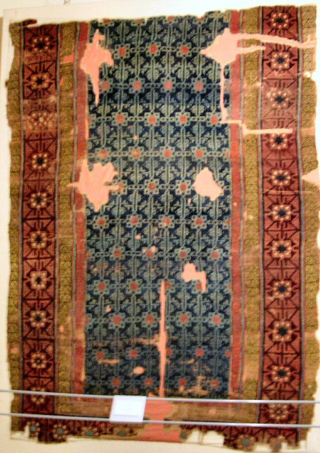 13th century Seljuk carpet found in the Sultan Aleaddin Keykubat Mosque in Konya