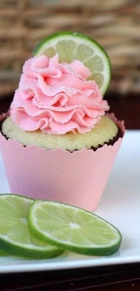 Strawberry Lime Cupcakes - Your Cup of Cake