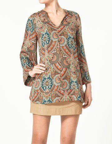 Women Fashion print flower Long sleeve Vintage shirt designer Ladies charming retro chiffon casual Blouses $17.99