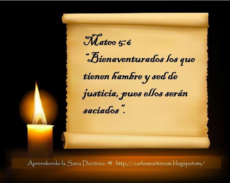 Carlos Martínez M_Aprendiendo la Sana Doctrina: Mateo 5:6