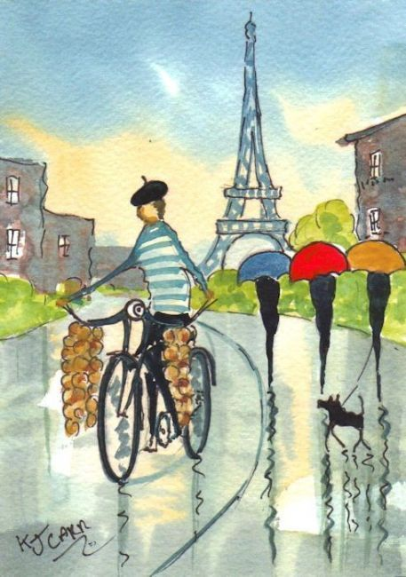 Rainy Day Paris~The Onion Seller, K.J. Carr