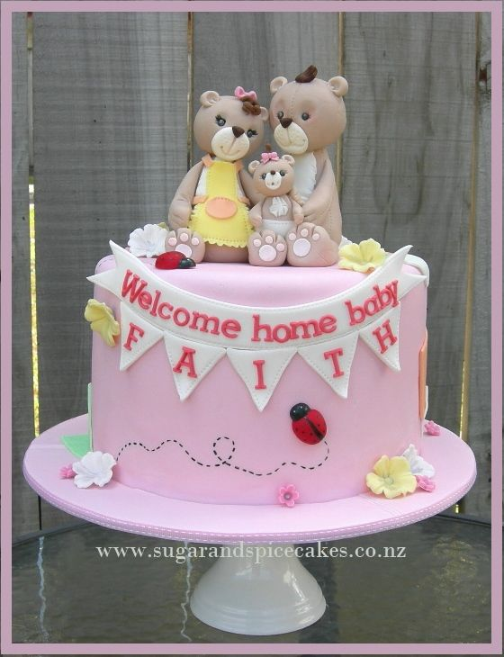 Baby Cake Designer cakes, cupcakes and sugarcraft by Mel SugarMama http://www.sugarandspicecakes.co.nz