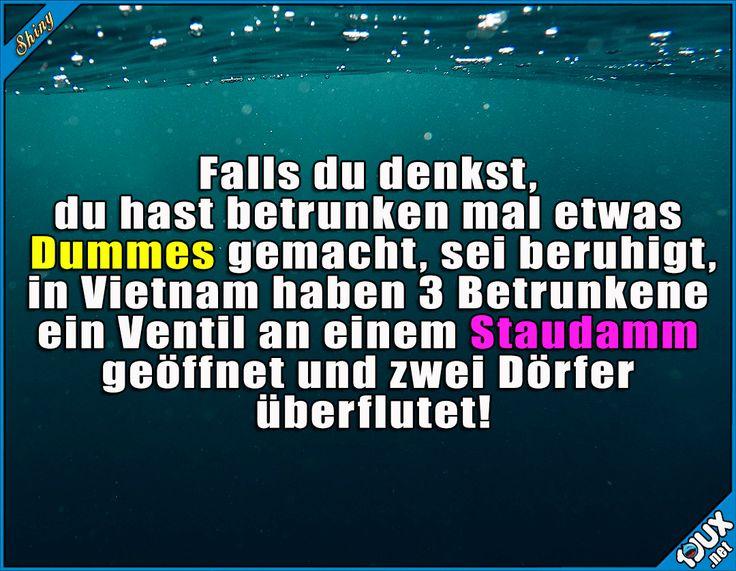 Dann doch lieber die Ex anrufen ^^' #Staudamm #Betrunkene #Vietnam #überflutet #Überflutung #Nachrichten #Humor #lustig