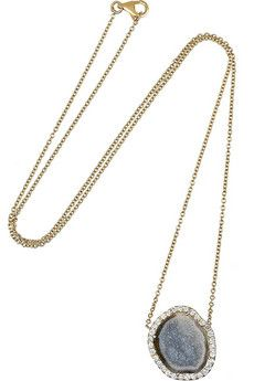 Kimberly McDonald 18-karat gold, geode and diamond necklace | NET-A-PORTER