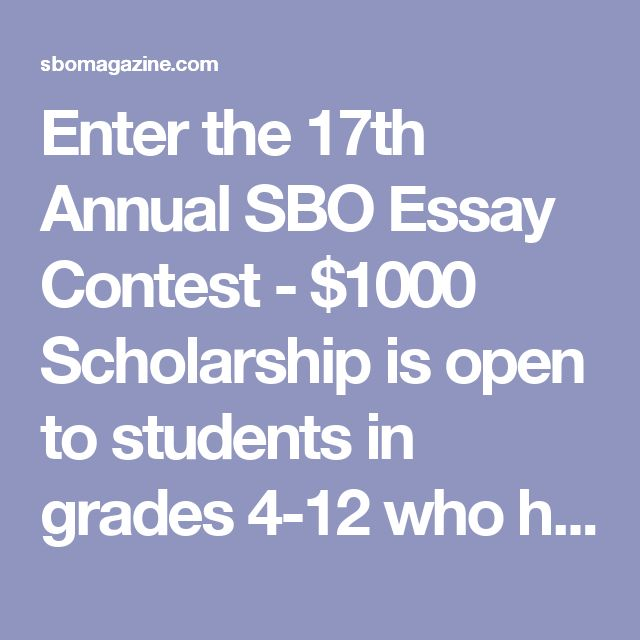 Please don't travel all-around screaming sbo sweepstakes 2016 essay it is definitely observable that consequences for