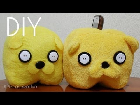 DIY Jake the dog plush cell phone holder pattern and tutorial #adventure time #kawaii