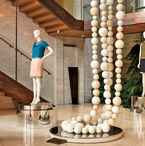 Jean-Michel Othoniel's Ivory Double Necklace sculpture at Boon the Shop, in Cheongdam-dong.