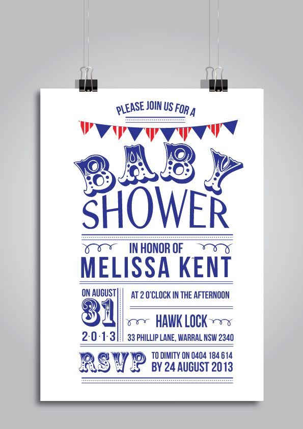Baby Shower Invitation, Nautical colour inspired leonnee.com