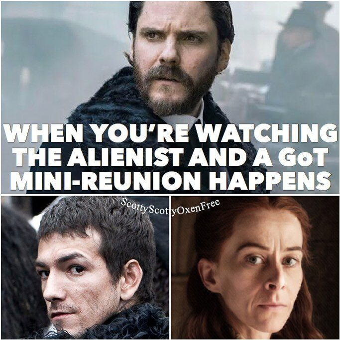 Loving The Alienist and damn if it didnt get more awesome with appearances by Josef Altin (Pyp) and Kate Dickie (Lysa Arryn). Too cool!  #gameofthrones #got #asongoficeandfire #asoiaf #georgerrmartin #grrm #hbo #gameofthronesmeme #gameofthronesmemes #savegot #thealienist #laszlokreizler #pyp #lysaarryn